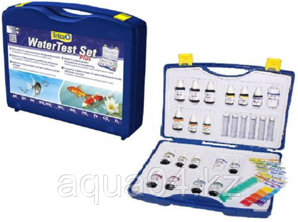Набор тестов для воды Tetra WaterTest Set Plus pH/KH/GH/NH3/NH4/NO2/NO3/O2/CO2/Fe/PO4