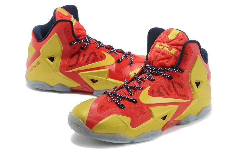 Баскетбольные кроссовки Nike LeBron 11 (XI) Elite красное золото