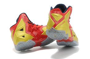 Баскетбольные кроссовки Nike LeBron 11 (XI) Elite красное золото, фото 3