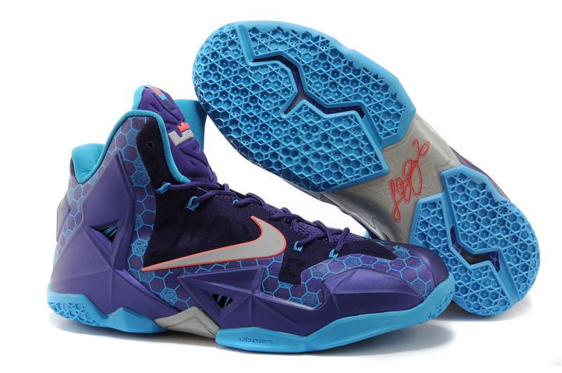 Баскетбольные кроссовки Nike LeBron 11 (XI) Elite Deep Purple