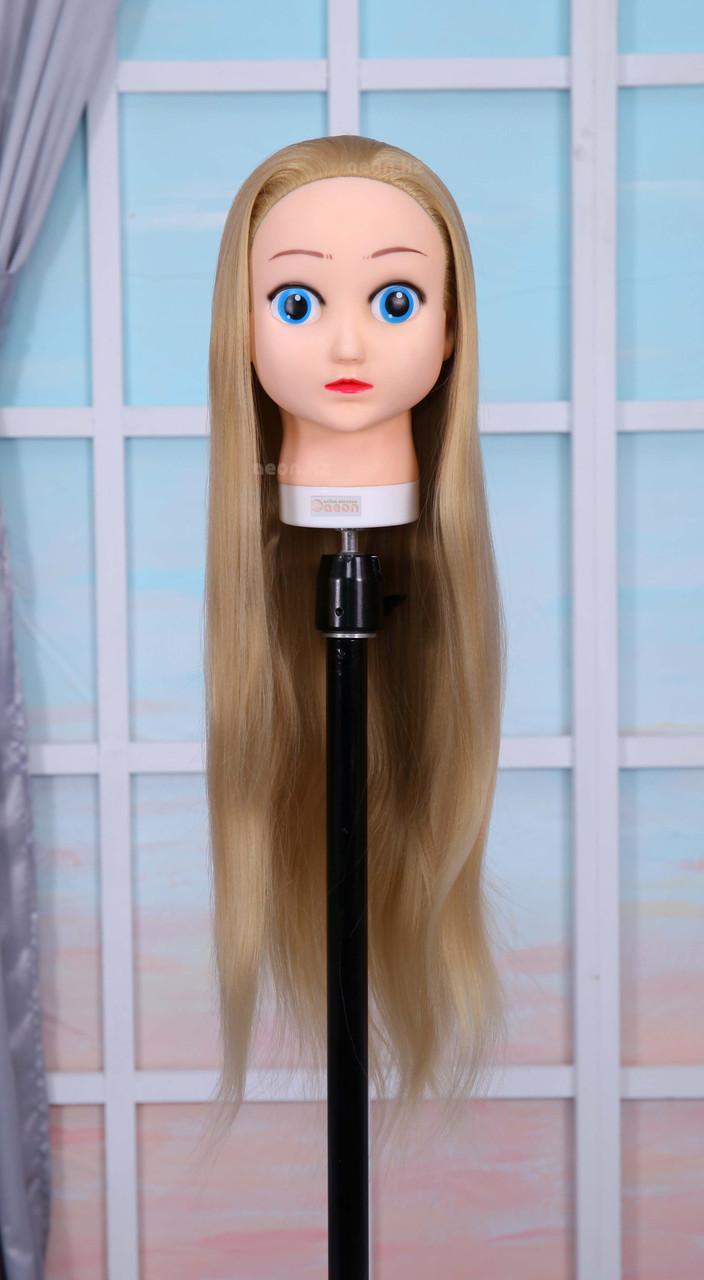 Голова-манекен (аниме) светло русый волос искусственный - 60 см - фото 1