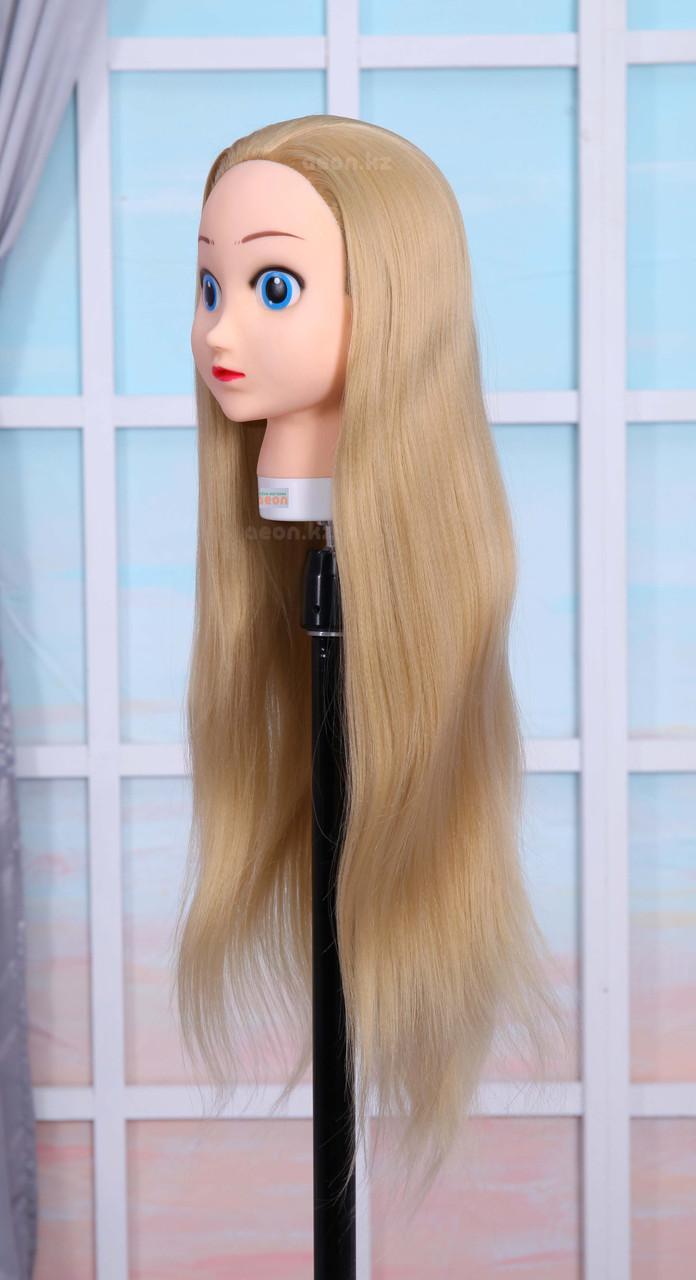 Голова-манекен (аниме) светло русый волос искусственный - 60 см - фото 2