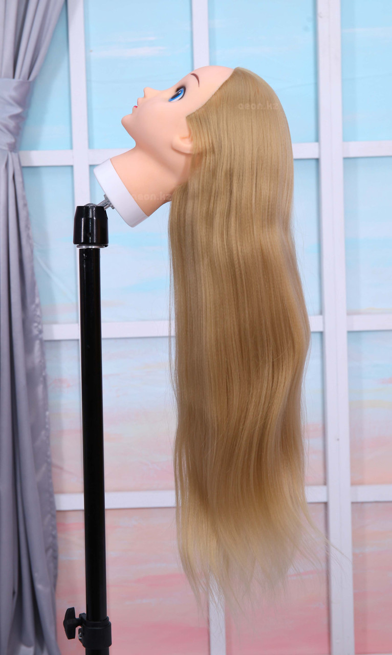 Голова-манекен (аниме) светло русый волос искусственный - 60 см - фото 3