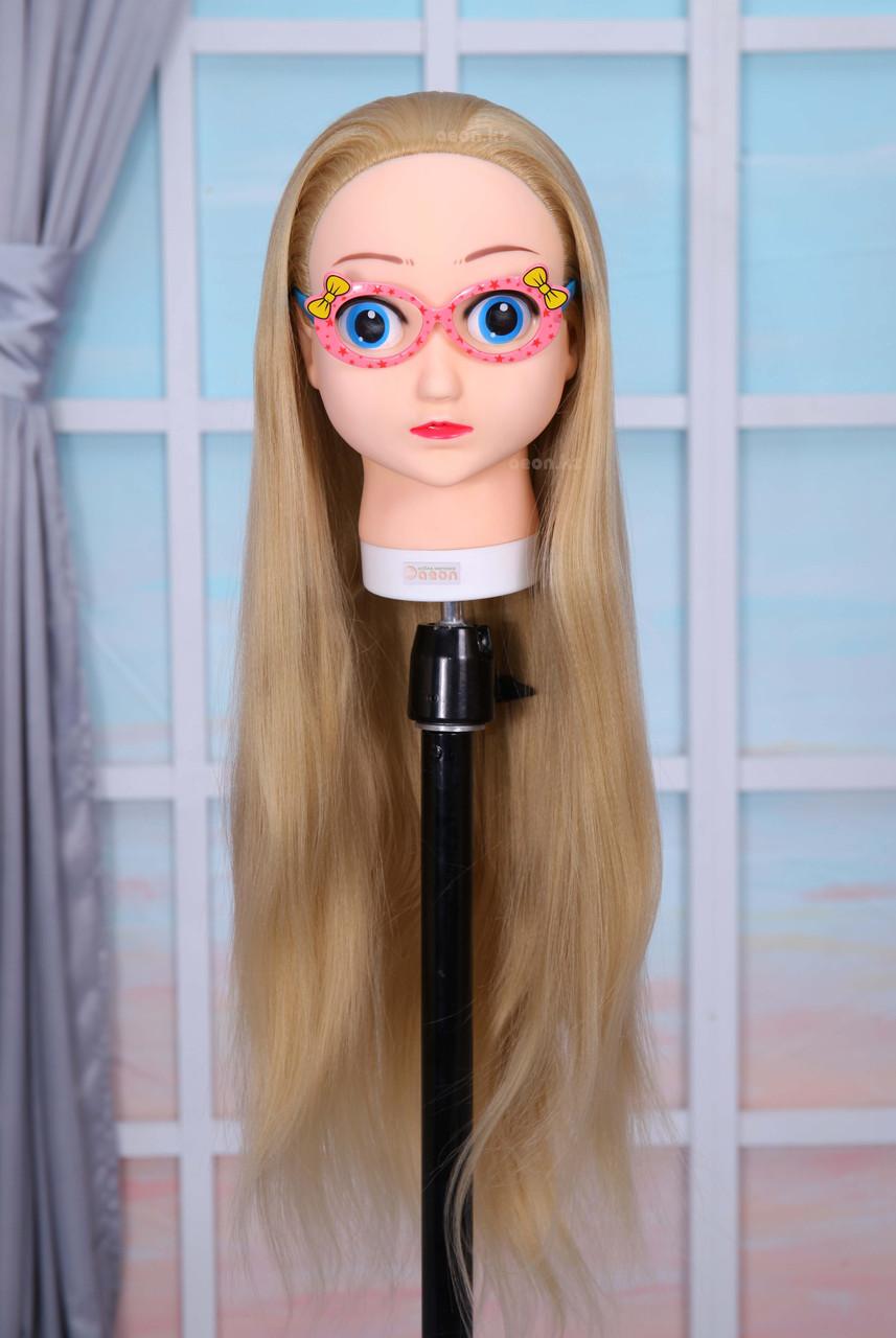 Голова-манекен (аниме) светло русый волос искусственный - 60 см - фото 5