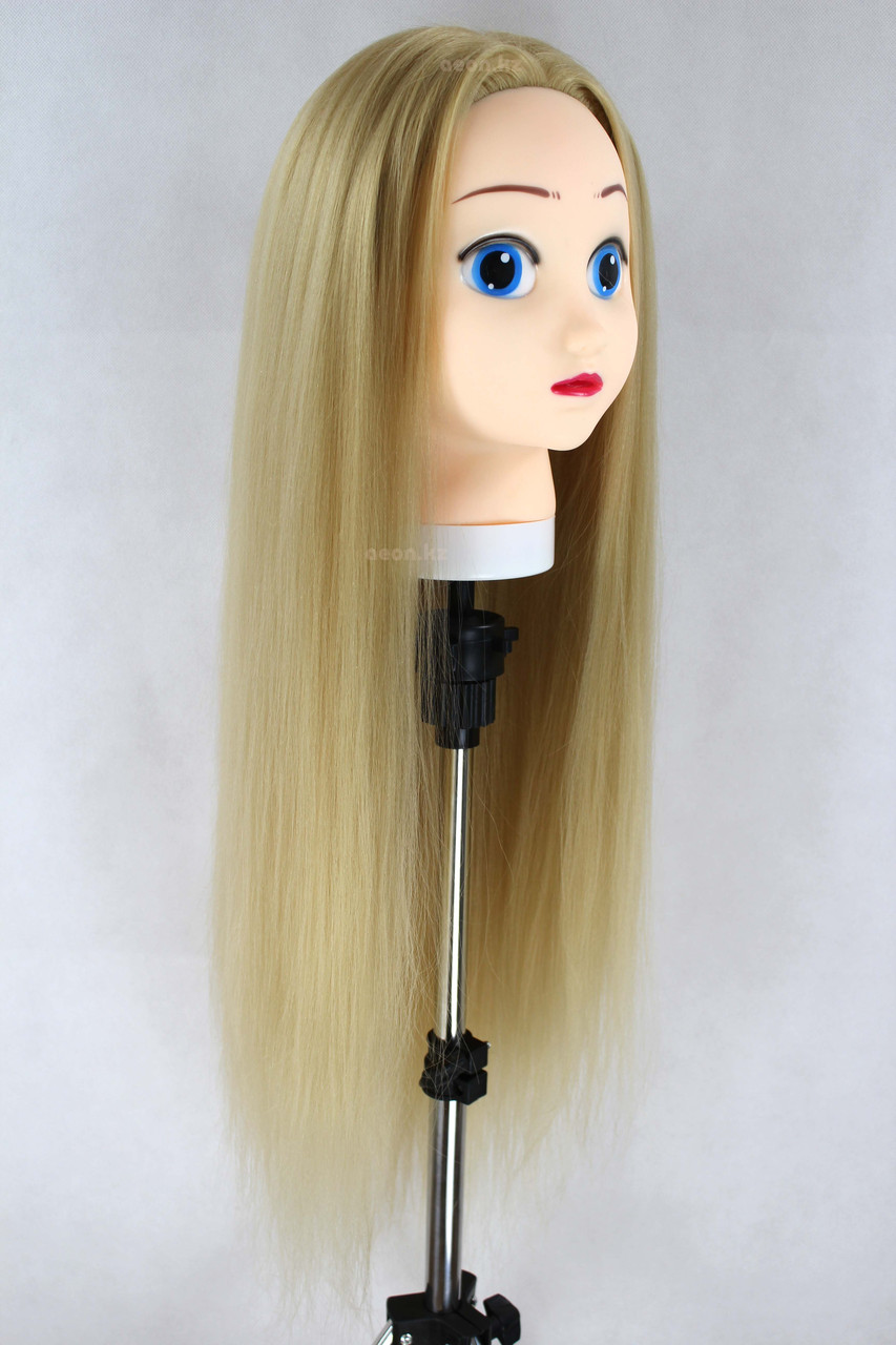 Голова-манекен (аниме) светло русый волос искусственный - 60 см - фото 6