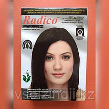 Травяная краска для волос  Radico темно-коричневый натуральный, 1 пакетик