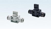Клапан ручной серия PHV двухходовой  , под трубку 6мм,8 мм,10мм,12мм