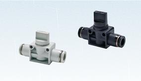 Клапан ручной серия PHV трехходовой, под трубку 6мм,8 мм,10мм,12мм