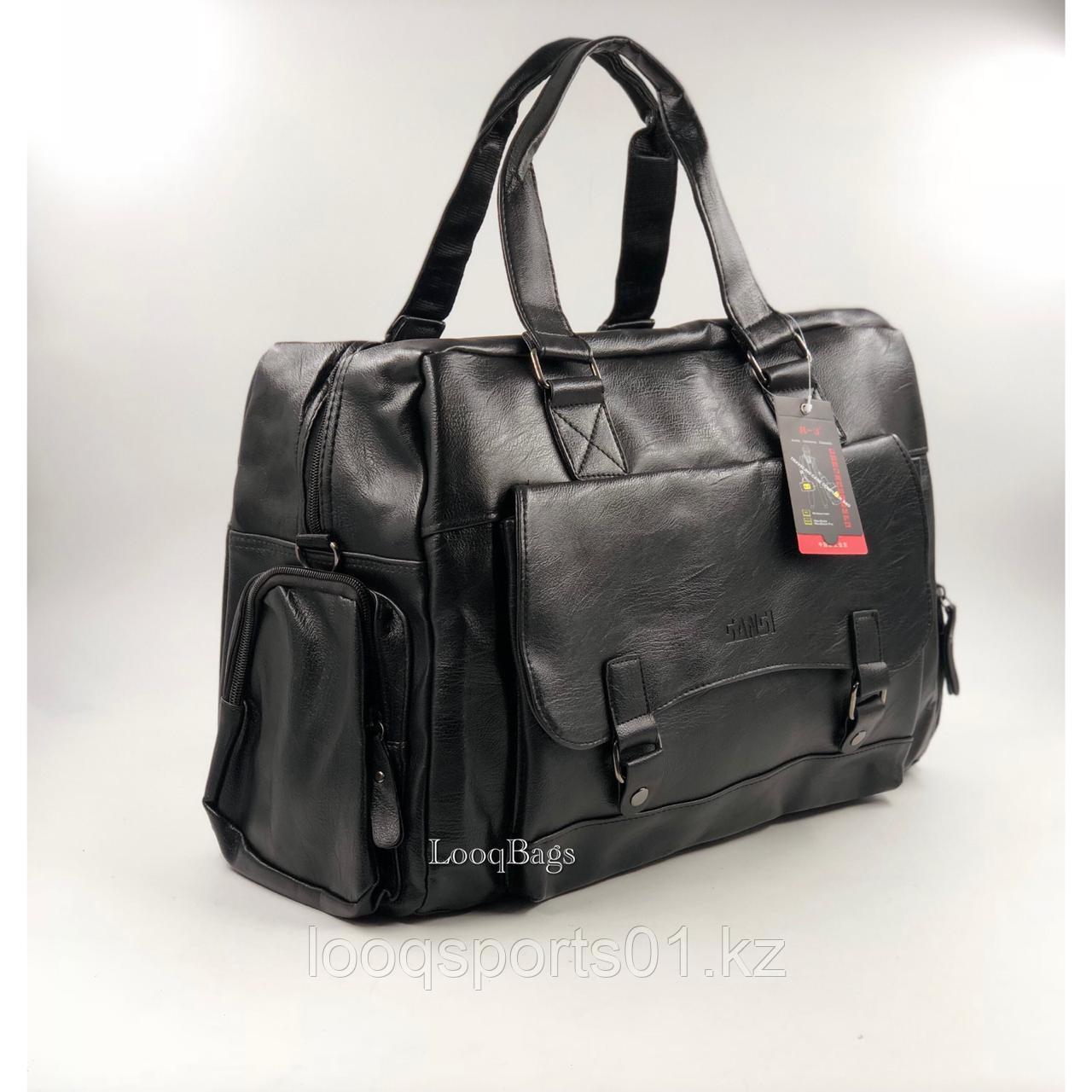 Кожаные дорожные спортивные сумки Sansi R-3 (8224)