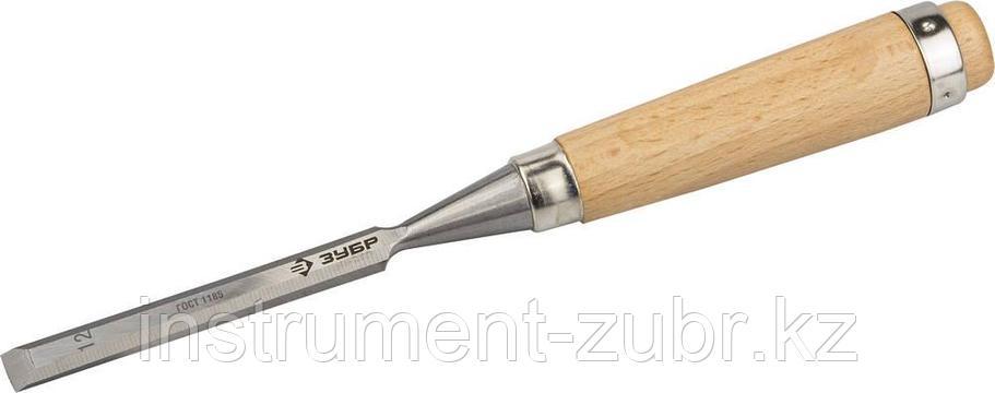 """Стамеска-долото """"СТ 500"""" с деревянной ручкой, хромованадиевая, 12мм, ЗУБР, фото 2"""