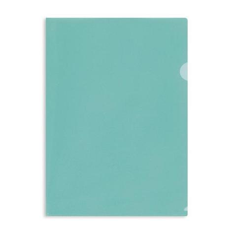 Папка уголок E-310 180мкр жест.пластик А4 зеленая прозр. Россия, 10 шт, фото 2