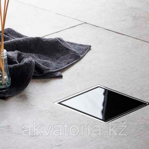 13000089 Душевой трап Pestan Confluo Standard Black Glass 1