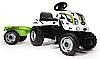Детский педальный трактор Smoby XL с прицепом 710113 Коровка