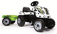 Детский педальный трактор Smoby XL с прицепом 710113 Коровка, фото 1