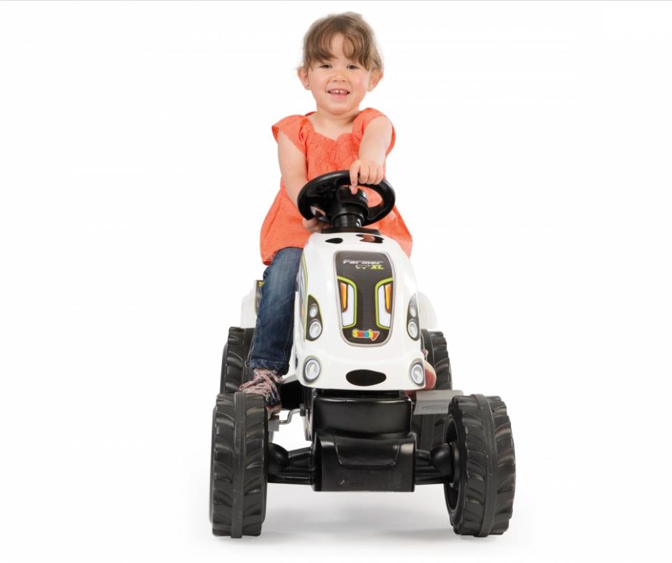 Детский педальный трактор Smoby XL Коровка с прицепом - фото 4