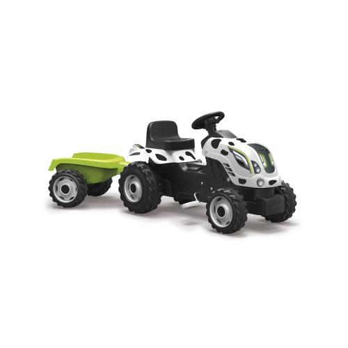 Детский педальный трактор Smoby XL Коровка с прицепом - фото 5