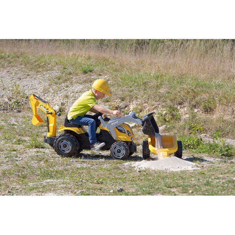 Трактор педальный Smoby с 2-мя ковшами и прицепом - фото 4