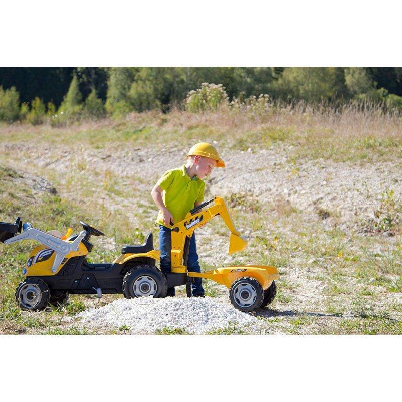 Трактор педальный Smoby с 2-мя ковшами и прицепом - фото 5