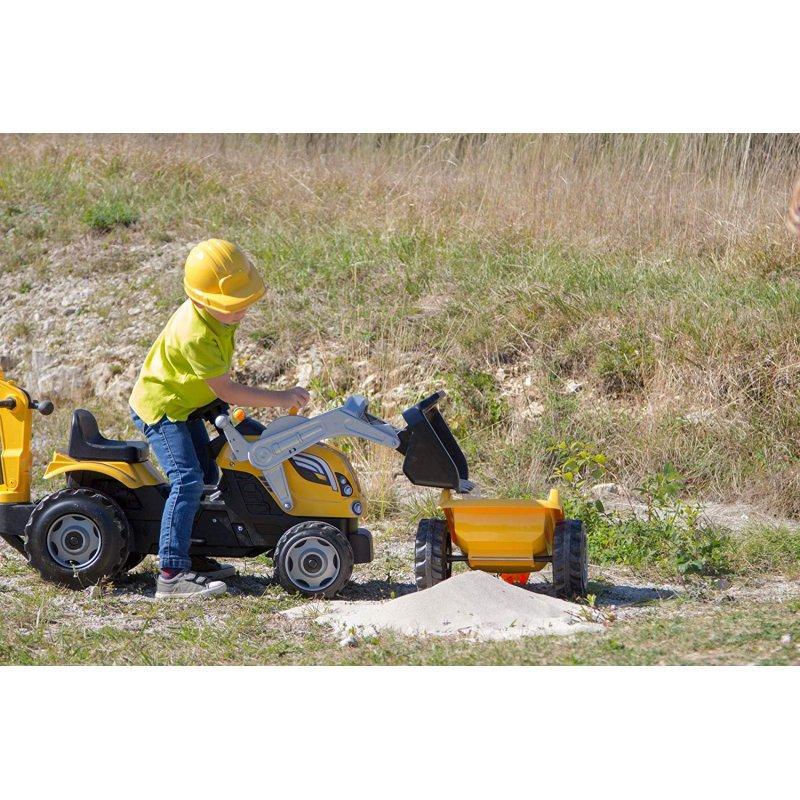 Трактор педальный Smoby с 2-мя ковшами и прицепом - фото 6