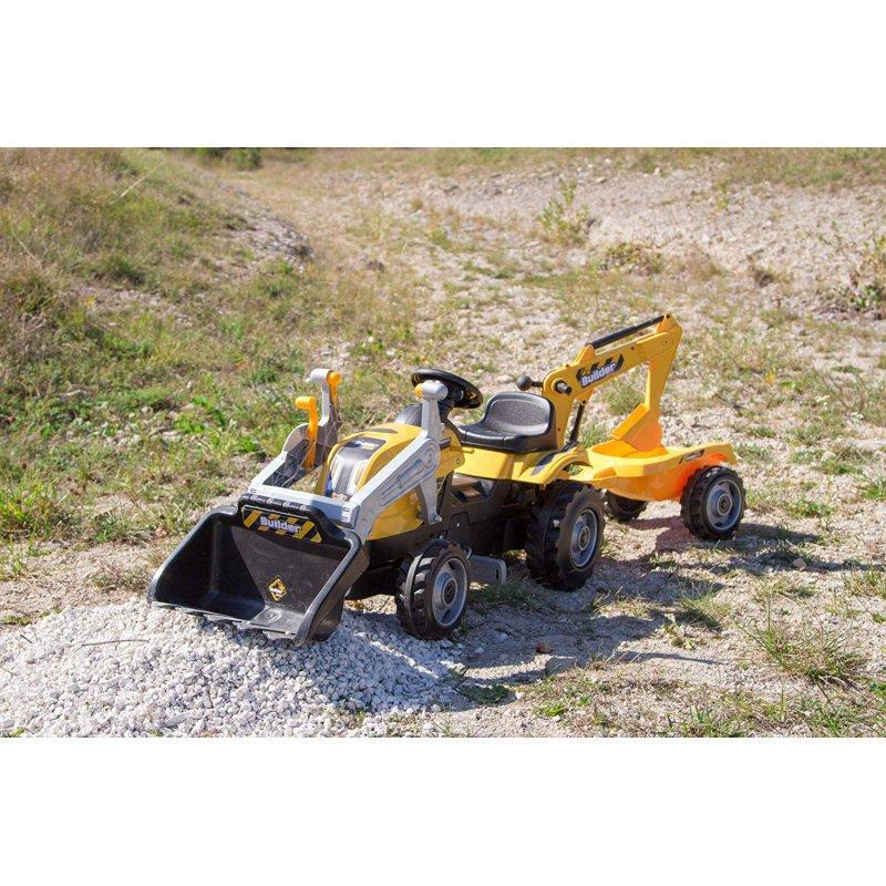 Трактор педальный Smoby с 2-мя ковшами и прицепом - фото 7