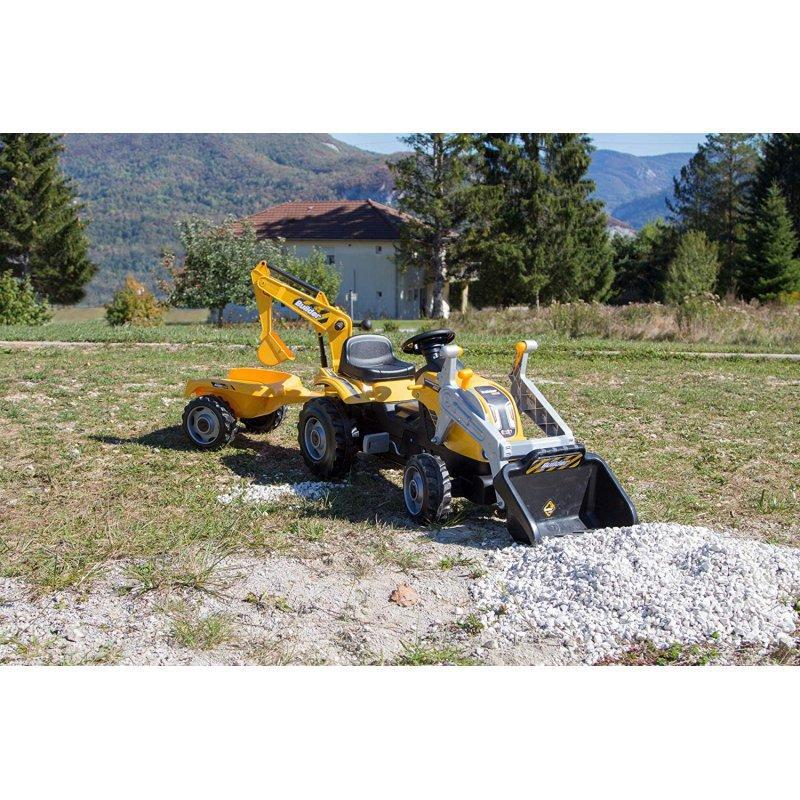 Трактор педальный Smoby с 2-мя ковшами и прицепом - фото 8