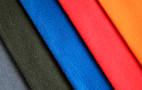 Ткань огнестойкая Пробан-280. Цвет Василек, темно-синий, красный.