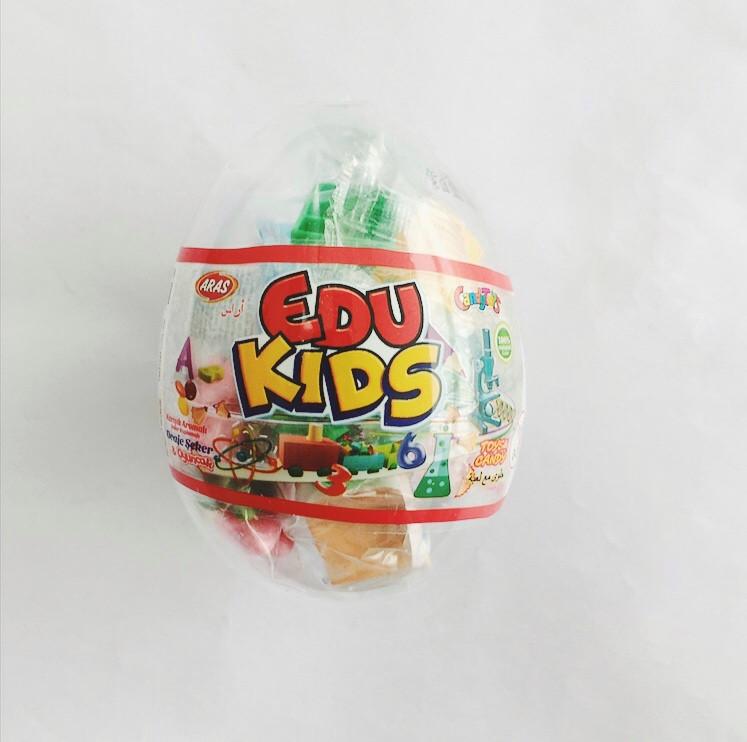 Яйцо с карамелью и игрушкой Лего EDU KIDS (12 шт в упаковке)
