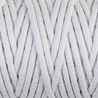 Шнур для вязания 'Пухлый' 100 хлопок ширина 5мм 100м (белый)