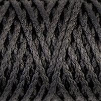 Шнур для вязания 'Классик' без сердечника 100 полиэфир ширина 4мм 100м (т.-серый)