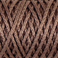 Шнур для вязания 'Классик' без сердечника 100 полиэфир ширина 4мм 100м (бежевый)