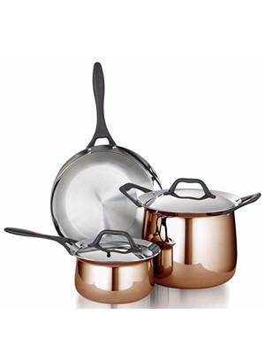 Кастрюля 24 см/8 л с крышкой Barazzoni BUTTERFLY Copper (5036010241)