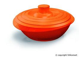 Кастрюля Silikomart Ø125 ↕50мм. 0,4 л.с крышкой, силикон, оранжевая, COC 02, 24.002.98.0065