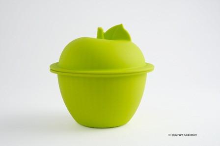 Кастрюля Silikomart Ø115 ↕115мм. 0,85 л.с крышкой, силикон, зеленая, COC05, 24.005.62.0065