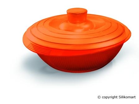 Кастрюля Silikomart Ø235 ↕75мм. 2,2 л.с крышкой, силикон, оранжевая, COC 04, 24.004.98.0065