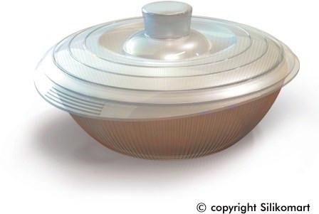 Кастрюля Silikomart Ø185 ↕65мм. 1,2 л.с крышкой, силикон, бесцветная, COC 03, 24.003.86.0065