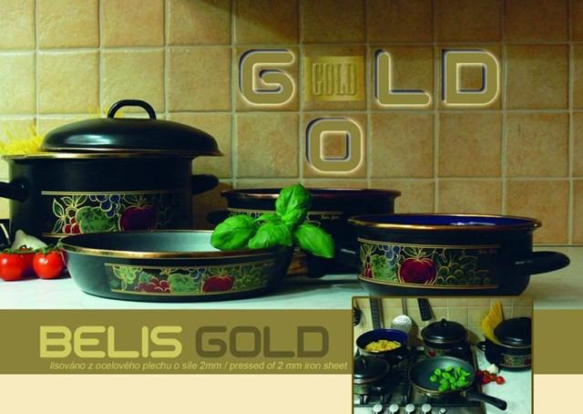 Кастрюля Belis 20 см 2 л. с крышкой belis gold