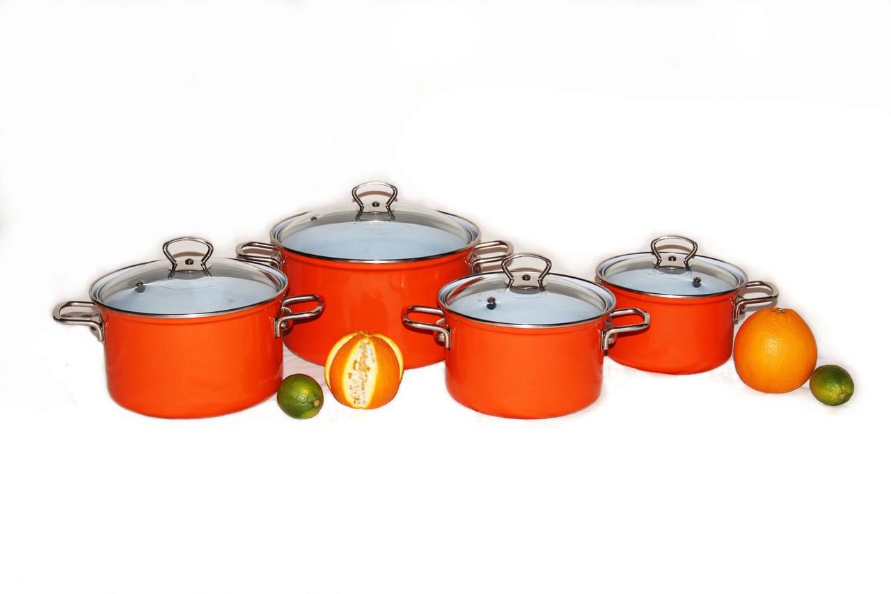 Кастрюля Belis 18 см 2,5 л. с крышкой orange