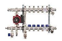 Коллектор со смесительным узлом Mixell из нержавеющей стали, 5 контуров