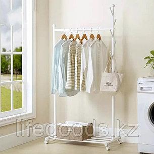 Вешалка напольная для одежды цвет белый, AYH-0377, фото 2