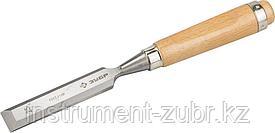 """Стамеска-долото """"СТ 500"""" с деревянной ручкой, хромованадиевая, 25мм, ЗУБР"""