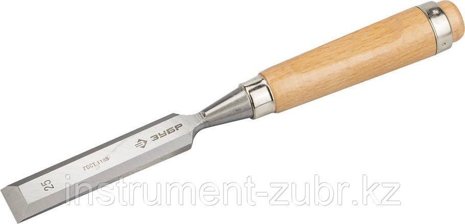 """Стамеска-долото """"СТ 500"""" с деревянной ручкой, хромованадиевая, 25мм, ЗУБР, фото 2"""