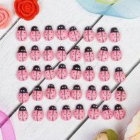 Наклейки 'Божьи коровки', розовые , набор 40 шт.