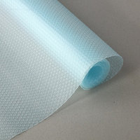 Коврик противоскользящий сервировочный 'Круги' 30х150 см, прозрачный голубой