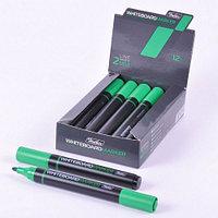 Маркер для магнитно-маркерных досок Hatber, круглый корпус, закругленный пишущий узел 2мм, зеленый