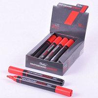 Маркер для магнитно-маркерных досок Hatber, круглый корпус, закругленный пишущий узел 2мм, красный