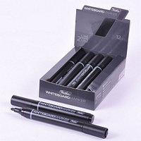 Маркер для магнитно-маркерных досок Hatber, круглый корпус, закругленный пишущий узел 2мм, черный
