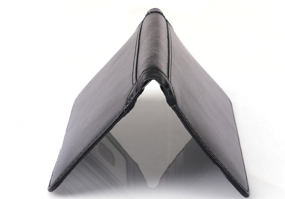 Тонкое кожаное портмоне с RFID protected. Натуральная кожа. Отличный подарок