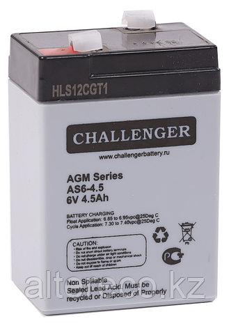 Аккумулятор Challenger AS6-4,5 (6В, 4,5Ач), фото 2