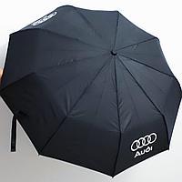 Зонт с логотипом Audi, с деревянной ручкой.