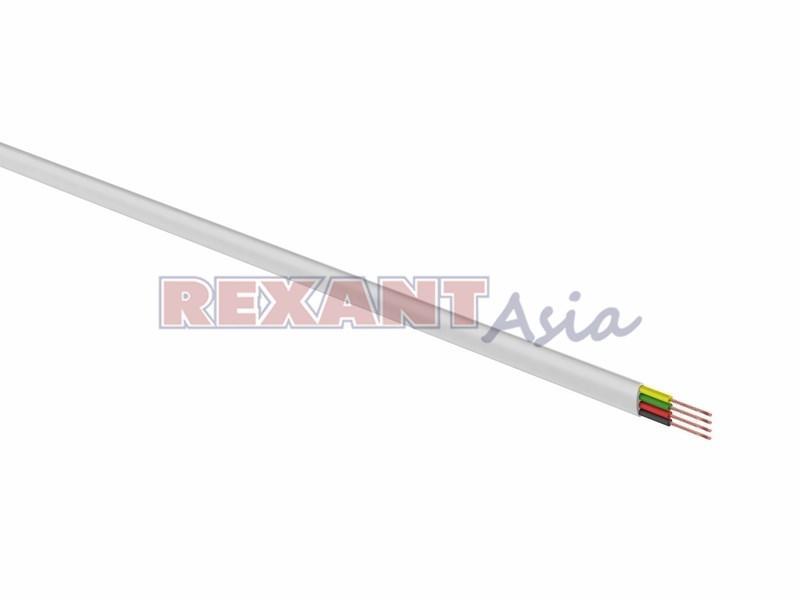 Телефонный кабель ШТЛП REXANT 4 жилы CCA, белый, бухта 100 м ( 01-5101-3 )